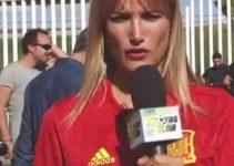 Alba Carrillo en un entrenamiento de España