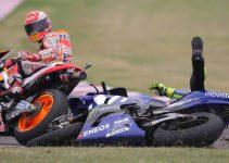 Márquez tira a Rossi y se lía