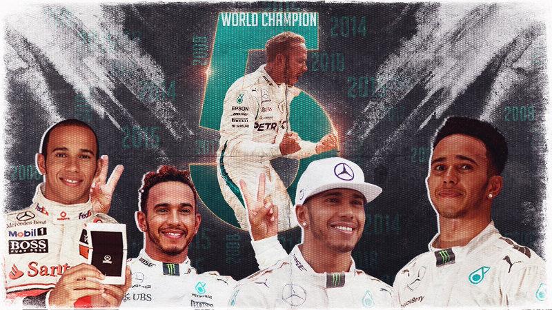Lewis Hamilton pentacampeón del mundo de F1