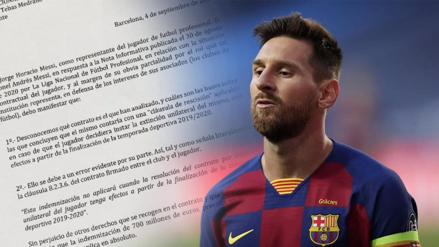 Contrato astronómico de Messi