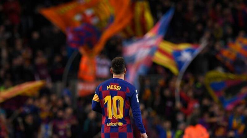 Messi sale del Barcelona