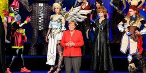 Angela Merkel inauguró la Gamescom