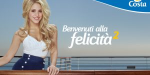 Shakira embajadora de Costa Crucero